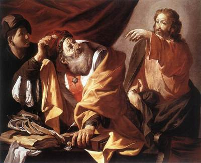 terbrugghen hendrick the calling of st matthew
