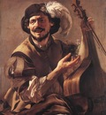 TERBRUGGHEN Hendrick A Laughing Bravo With A Bass Viol And A Glass