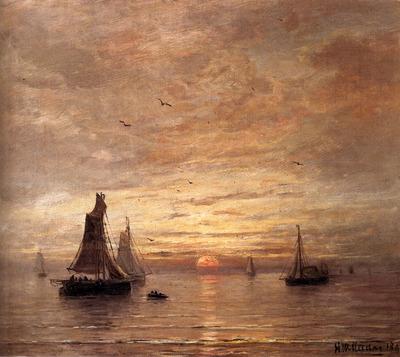 Mesdag Hendrik Willem Coucher de Soleil