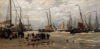 Mesdag Hendrik Willem Pinks in the Breakers