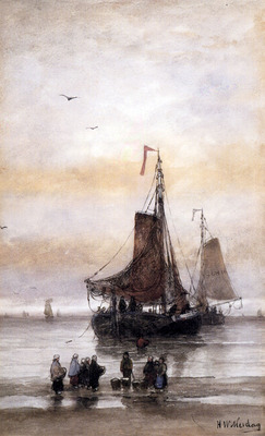 Mesdag Hendrik Willem The Arrival Of The Fleet
