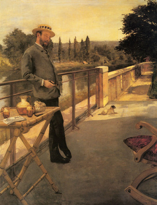 Gervex Henri An Elegant Man On A Terrace