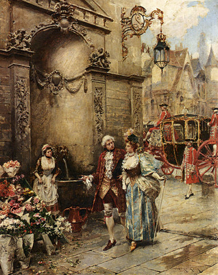 Lesur Henri Victor A Visit To The Florist
