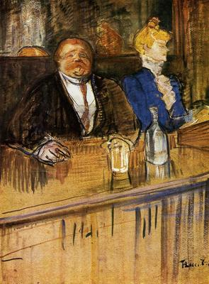 Toulouse Lautrec Henri de At the Cafe The Customer and the Anemic Cashier