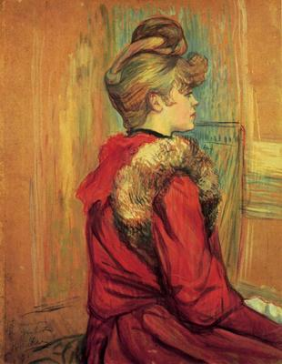 Toulouse Lautrec Henri de Girl in a Fur Mademoiselle Jeanne Fontaine