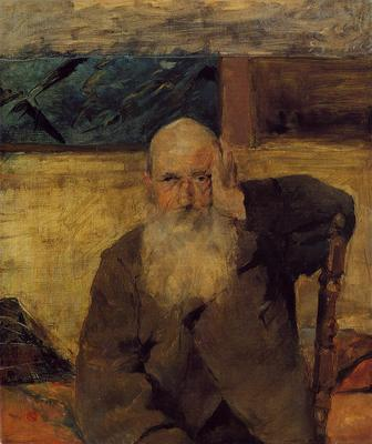 Toulouse Lautrec Henri de Old Man at Celeyran