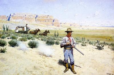 Farney Henry F Defending the Stagecoach