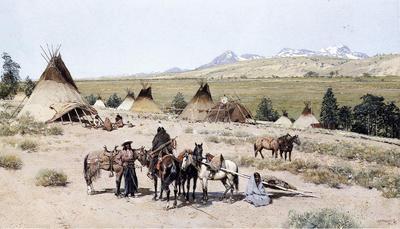 Farney Henry F Indian Encampment