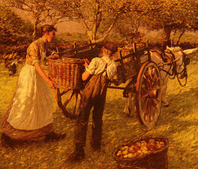 La Thangue Henry Herbert A Sussex Orchard