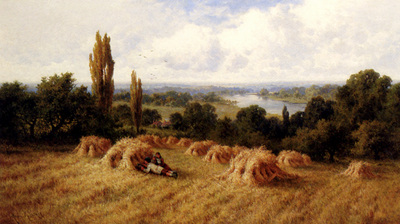 Parker Henry Deacon Hillier A Corn Field Chertsey On Thames Surrey