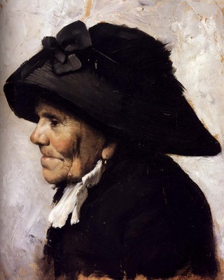 Geoffroy Henri Jules Jean Study Of The Head Of An Old Woman