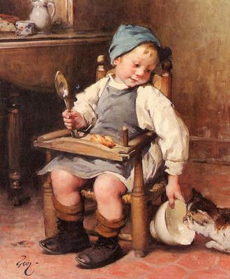 Geoffroy Henry Jules Geoffrey Sharing A Meal