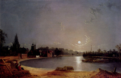 Pether Henry The Thames At Moonlight Twickenham