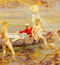 Tuke Henry Scott Ruby Gold And Malachite