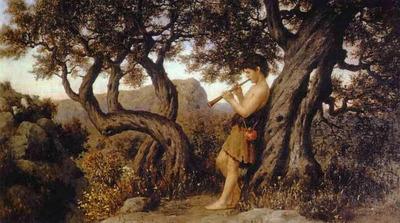 Siemiradzki Henryk A Shepherd Playing Flute
