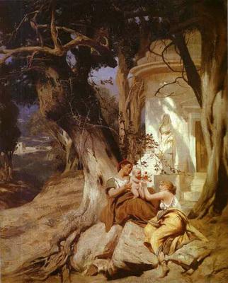 Siemiradzki Henryk By a Temple Idyll