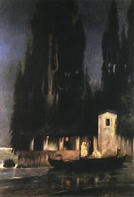 Siemiradzki Henryk Departure from an Island at Night