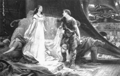 Draper Herbert James Tristan and Isolde steel engraving