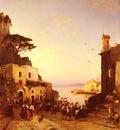 Corrodi Hermann David Solomon Processione A Sorrento