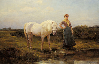 Hardy Heywood Noonday Taking A Horse To Water