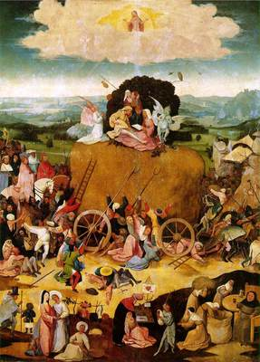 Haywain central panel of the triptych WGA