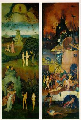 Paradise and Hell left and right panels of a triptych WGA