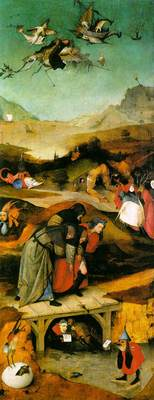 Temptation of St Anthony left wing of the triptych WGA