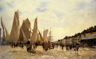 Deply Hippolyte Camille The Docks At Dieppe