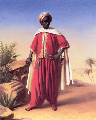 Vernet H Portrait of an Arab