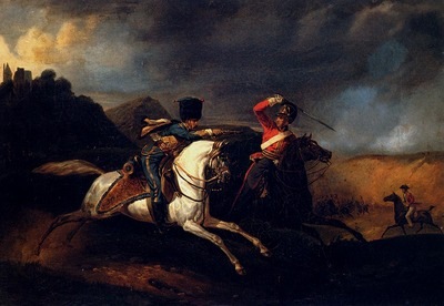 Vernet Horace Two Soldiers On Horseback