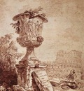 ROBERT Hubert The Draughtsman Of The Borghese vase
