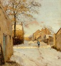 Sisley Alfred A Village Street in Winter