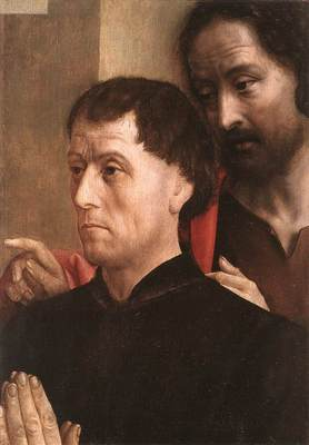 GOES Hugo van der Portait Of A Donor With St John The Baptist