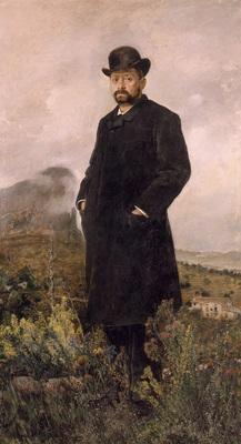 Camarlench Ignacio Pinazo El invierno Retrato de D  Manuel Comas