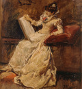 Camarlench Ignacio Pinazo Figura femenina sentada