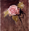 Camarlench Ignacio Pinazo Una rosa