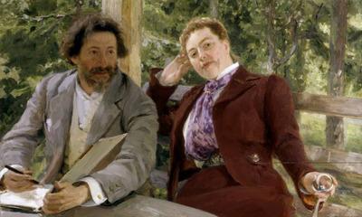 Repin Double Portrait of Natalia Nordmann and Ilya Repin