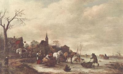 OSTADE Isaack van Winter Landscape