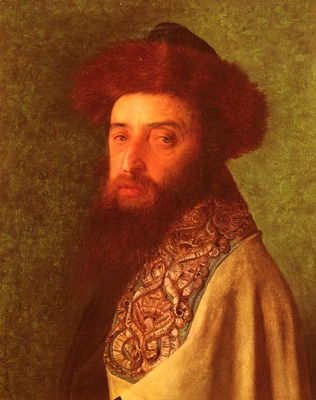 Kaufmann Isidor Young Rabbi With Blue Tallis
