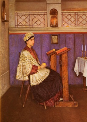 Kaufmann Isidor Young Woman In The Synagogue
