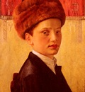 Kaufmann Isidor Portrait Of A Young Chassidic Boy