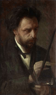 Kramskoi Portrait of the Artist Grigory Myasoyedov