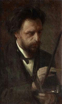 Kramskoi Portrait of the Artist Grigory Myasoyedov