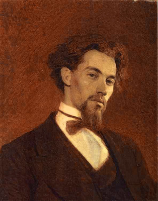 Kramskoi Portrait of the Artist Konstantin Savitsky