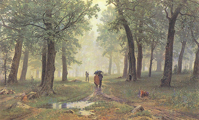 shishkin ivan rain in the oak grove