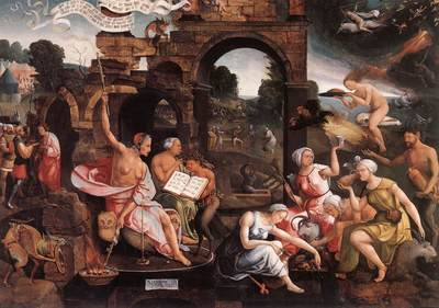 CORNELISZ VAN OOSTSANEN Jacob Saul And The Witch Of Endor