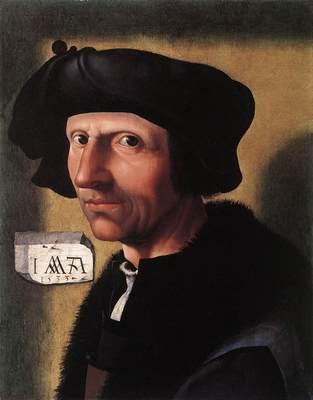 CORNELISZ VAN OOSTSANEN Jacob Self Portrait