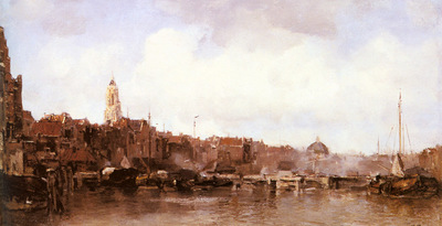 Maris Jacob A View Of A Harbor Town