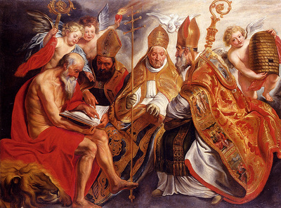 Jordaens Jacob The Four Fathers Of The Latin Church