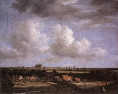 RUISDAEL Jacob Isaackszon van Landscape With A View Of Haarlem